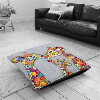 Steven Brown Andy & Amy McZoo & The Wean Floor Cushion 100 x 100cm