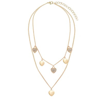 Kasara Heart Charm Layered Necklace