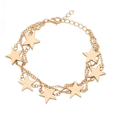 Kasara Layered Star Charm Bracelet