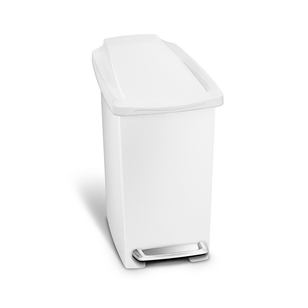 Simplehuman Slim Step Can White plastic - 10 Litre - CW1332 No Colour