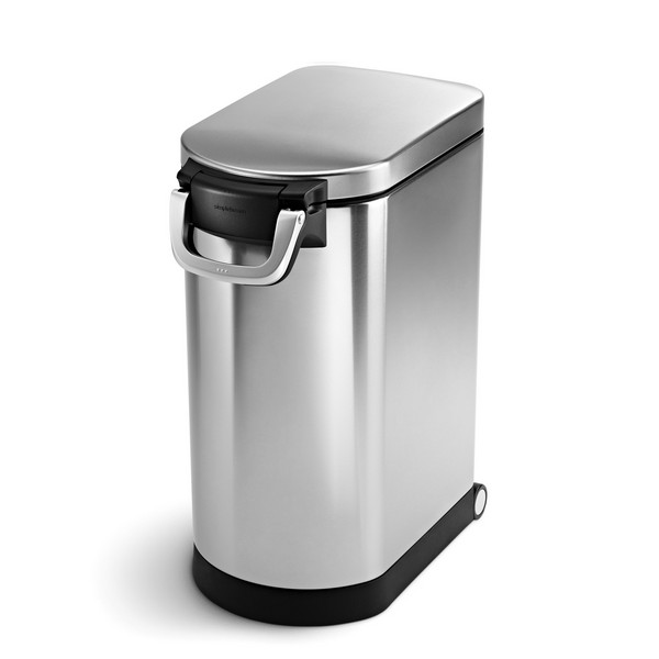 Simplehuman 30L Pet Food Bin - Brushed Stainless Steel - CW1886 No Colour