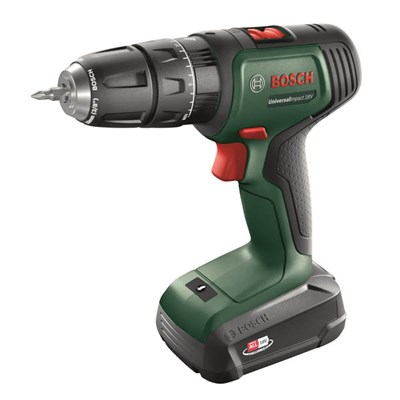 Bosch Universal Impact Drill, 2 Batteries and Charger