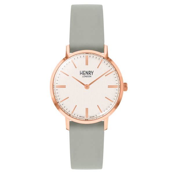 Henry London Regency Watch with Leather Strap Grey