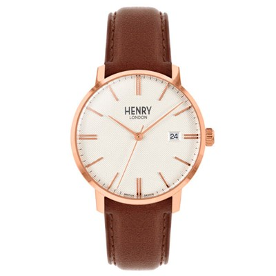 Henry London Regency Rose Gold Watch with Leather Strap