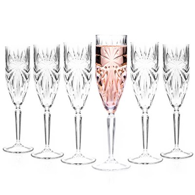 RCR Oasis Crystal Champagne Glasses (6 Pack)