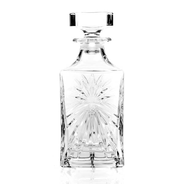 RCR Oasis Crystal Square Decanter No Colour
