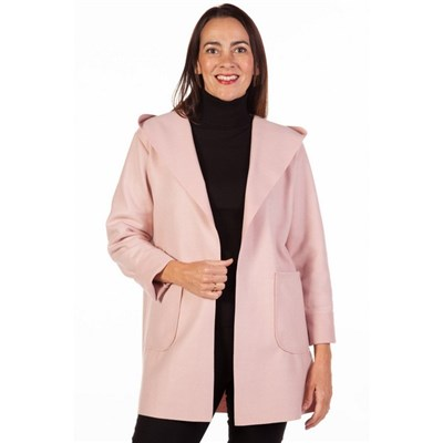 Fizz Pink Edge To Edge Hooded Jacket