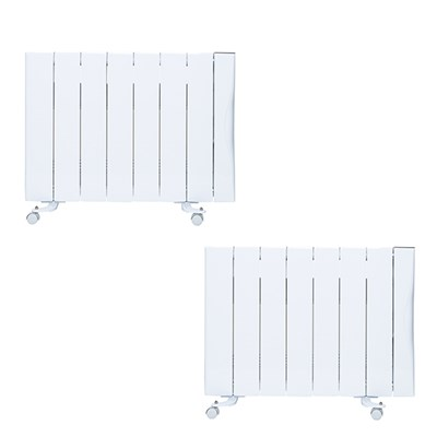 Warm Home 2000w Ceramic Radiator 25sqm Twinpack