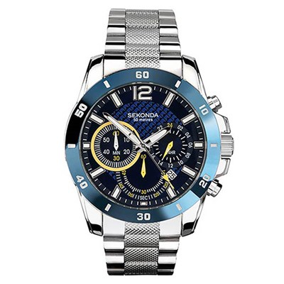 Sekonda Gents Chronograph Watch on Stainless Steel Bracelet - 1443