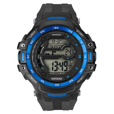 Sekonda Gents Blue Digital Watch with Silicone Strap
