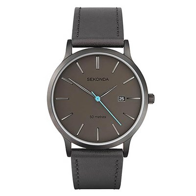 Sekonda Gents Modern Watch with Genuine Leather Strap