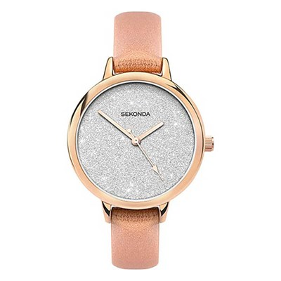 Sekonda Ladies Edition Watch with Genuine Leather Strap