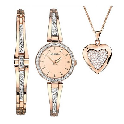 Sekonda Ladies Watch & Jewellery Gift Set