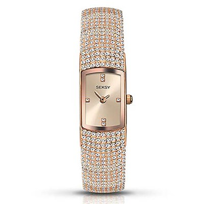 Seksy Ladies Jewelled Fashion Watch with Stainless Steel Bracelet