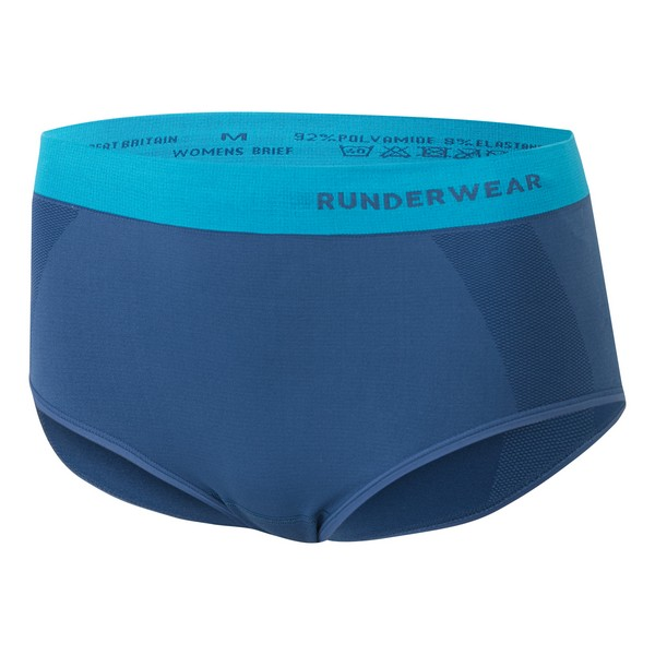 Runderwear Women's Running Briefs Blue/Cyan