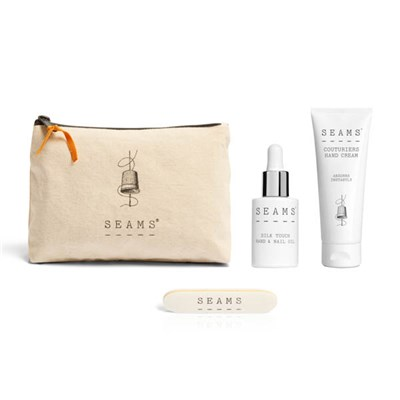 SEAMS Hand Care Zip Bag with Hand Cream 75ml, Hand & Nail Oil 28ml & Complimentary Nail File