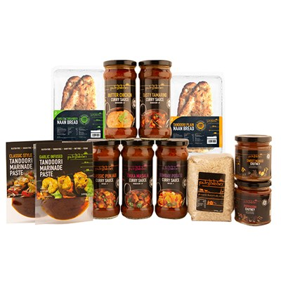 Punjaban Mild to Medium Curry Pack inc. Sauces, Marinades, Chutneys, Rice and Naans
