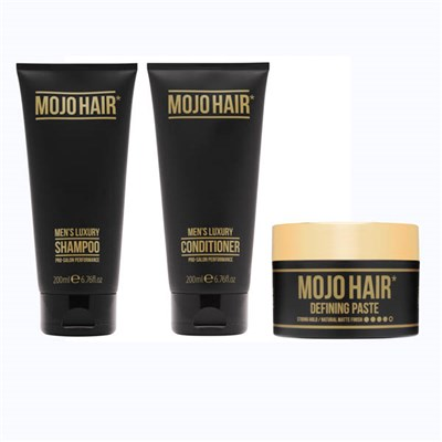Mojo Hair Defining Paste 75ml with Shampoo 200ml + Conditioner 200ml