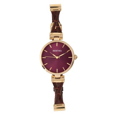 Bertha Ladies' Amanda Watch on Genuine Leather Strap