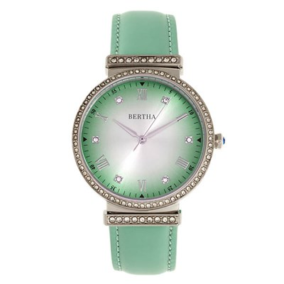 Bertha Ladies' Allison Watch with Genuine Leather Strap
