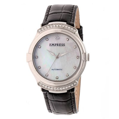 Empress Ladies' Francesca Mother of Pearl Dial Watch with Genuine Leather Strap