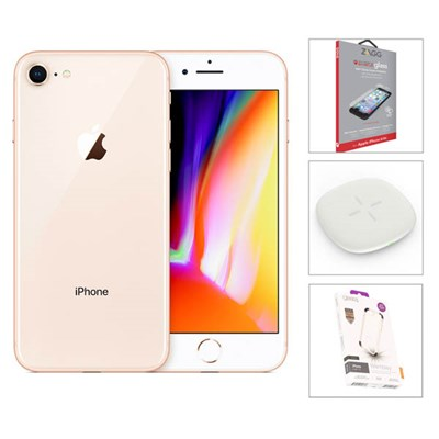 AzTech Refurbished iPhone 8 64GB Bundle with Accessories