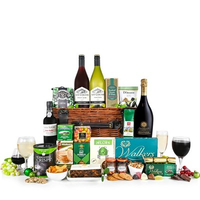 Christmas Luxury Hamper with Prosecco and Wine