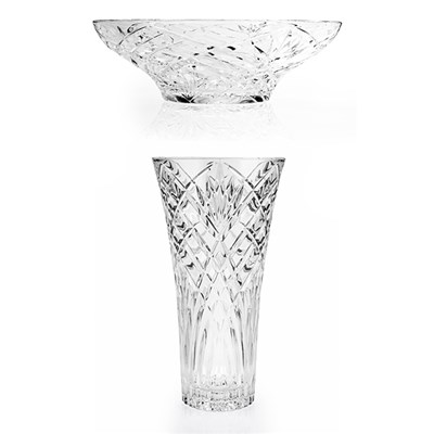 RCR Melodia Crystal Vase & Bowl Set