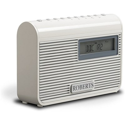 Roberts Radio Play M3 Compact/Portable DAB/DAB+/FM RDS Radio with 6 Presets AC/DC including Maxell Headphones.
