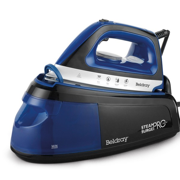 Beldray Steam Surge Pro Iron with Vertical Steaming - 1.2L - 2400W - Blue
