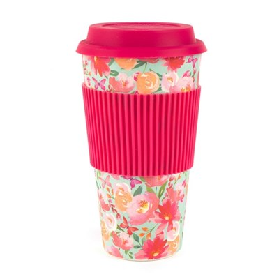 Cambridge Large Flori Reusable Travel Mug