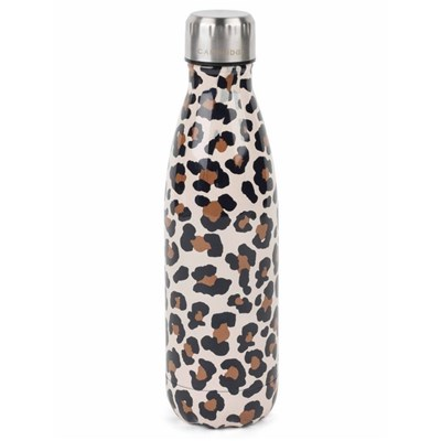 Cambridge Watercolour Leopard Thermal Insulated Flask Bottle - 500ml - Stainless Steel