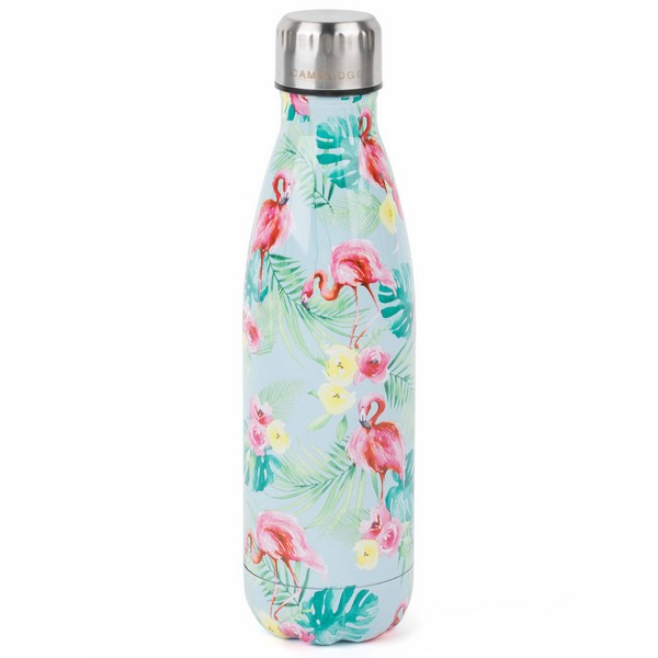 Cambridge Flamingo Jungle Thermal Insulated Flask Bottle - 500 ml - Stainless Steel