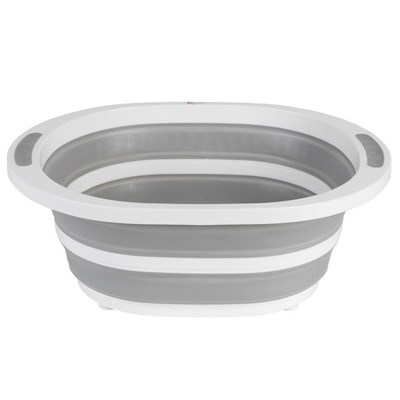Kleeneze Collapsible Washing Up Bowl - White/Grey