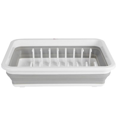Kleeneze Collapsible Dish Drainer - White/Grey