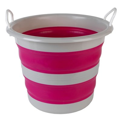 Kleeneze Collapsible Cleaning Bucket - 30L - Pink/Grey