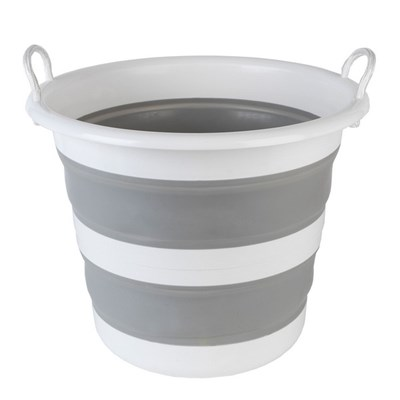 Kleeneze Collapsible Cleaning Bucket - 30L - Grey/White
