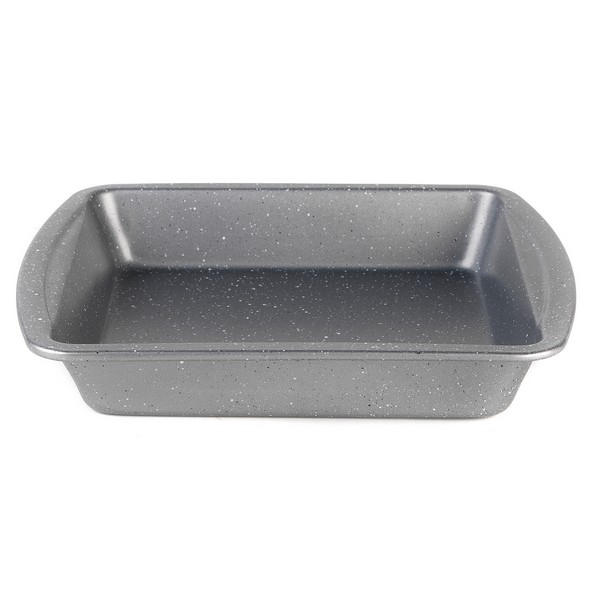 Progress Non-Stick Metallic Marble Square Pan - 26cm No Colour