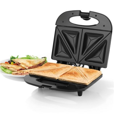 Progress2-Slice Non-Stick Sandwich Toaster - 800W - Black