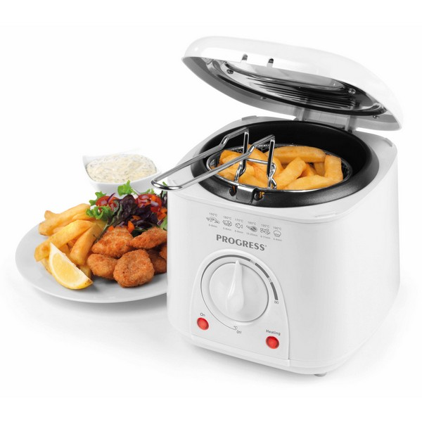 Progress Compact 1L Deep Fat Fryer With Removable Cooking Basket - 950 W No Colour
