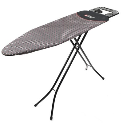Russell Hobbs Ironing Board with Jumbo Iron Rest - 122 x 38 cm - Black