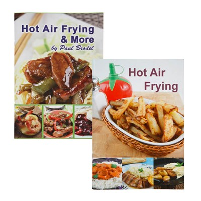 Hot Air Fyring and Hot Air Frying and More Recipe Books by Paul Brodel - Pack of 2