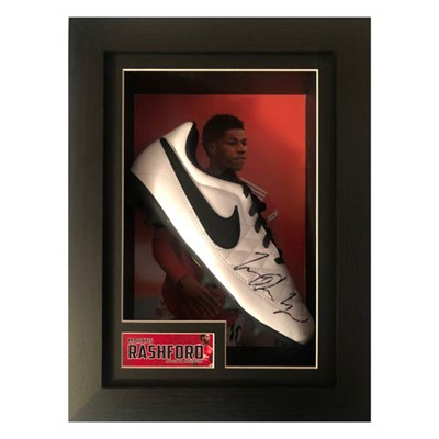 Marcus Rashford Personally Signed Framed Football Boot Display
