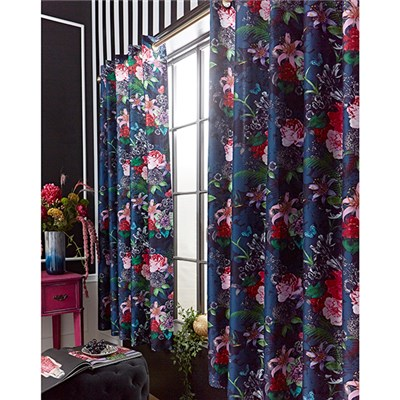 Joe Browns Flowerful Eyelet Curtains 66  x 72 Inches