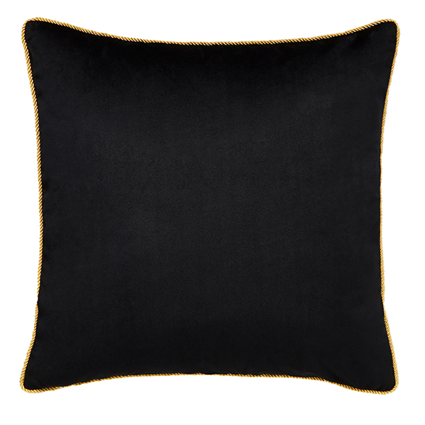 Joe Browns Jumbo Velvet Reversible Cushion Black/Pink