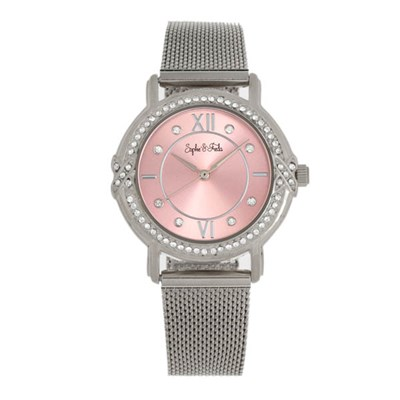 Sophie & Freda - Ladies Reno Swarvoski Crystals Watch with Milanese Bracelet