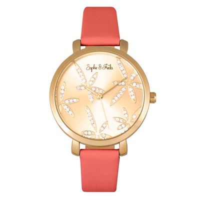 Sophie & Freda - Ladies Key West Swarovski Crystals Watch with Genuine Leather Strap