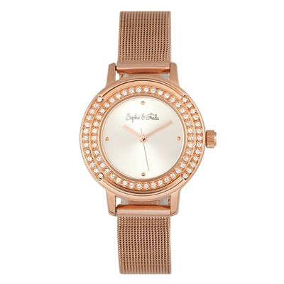 Sophie & Freda - Ladies Cambridge Swarovski Crystals Watch with Milanese Bracelet