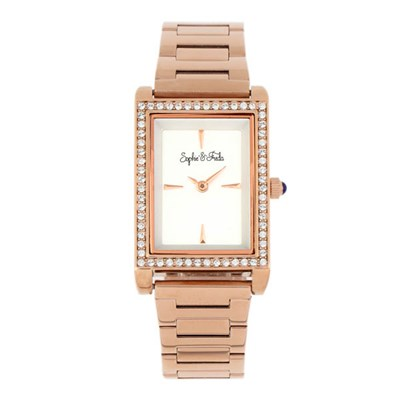 Sophie & Freda - Ladies Wilmington Swarovski Crystals Watch with Stainless Steel Bracelet