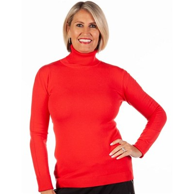 Fizz Super Stretch Polo Neck Jumper